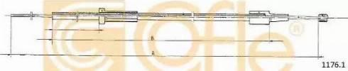 Cofle 1176.1 - Mootorikapoti trossid multiparts.ee