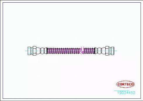 Corteco 19034452 - Pidurivoolik multiparts.ee