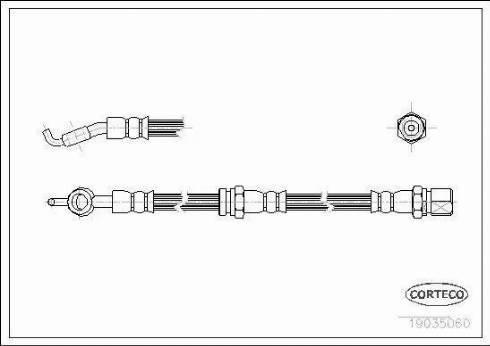 Corteco 19035060 - Pidurivoolik multiparts.ee