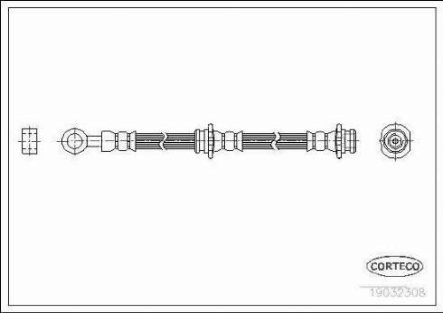 Corteco 19032308 - Pidurivoolik multiparts.ee