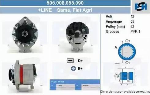 CV PSH 505.008.055.090 - Generaator multiparts.ee