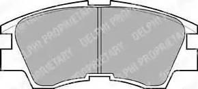 Delphi LP633 - Piduriklotsi komplekt,ketaspidur multiparts.ee