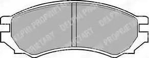 Delphi LP670 - Piduriklotsi komplekt,ketaspidur multiparts.ee
