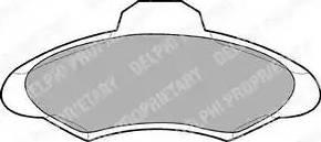 Delphi LP673 - Piduriklotsi komplekt,ketaspidur multiparts.ee