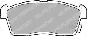 Delphi LP1442 - Piduriklotsi komplekt,ketaspidur multiparts.ee