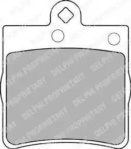 Delphi LP1403 - Piduriklotsi komplekt,ketaspidur multiparts.ee