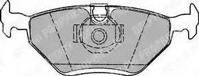 Delphi LP1423 - Piduriklotsi komplekt,ketaspidur multiparts.ee