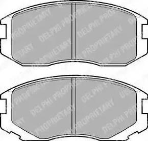 Delphi LP1594 - Piduriklotsi komplekt,ketaspidur multiparts.ee
