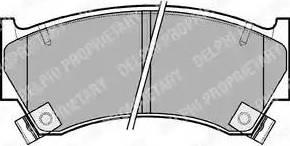 Delphi LP1590 - Piduriklotsi komplekt,ketaspidur multiparts.ee