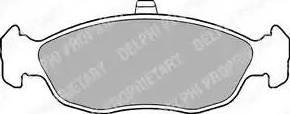 Delphi LP1597 - Piduriklotsi komplekt,ketaspidur multiparts.ee
