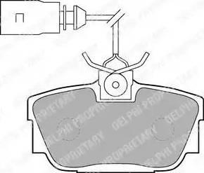 Delphi LP1541 - Piduriklotsi komplekt,ketaspidur multiparts.ee