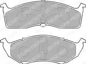 Delphi LP1531 - Piduriklotsi komplekt,ketaspidur multiparts.ee