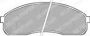 Delphi LP1671 - Piduriklotsi komplekt,ketaspidur multiparts.ee