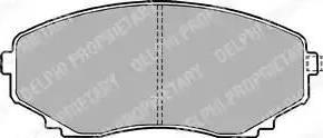 Delphi LP1095 - Piduriklotsi komplekt,ketaspidur multiparts.ee