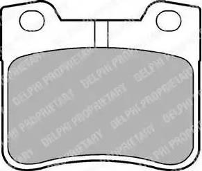 Delphi LP1051 - Piduriklotsi komplekt,ketaspidur multiparts.ee