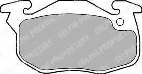Delphi LP1053 - Piduriklotsi komplekt,ketaspidur multiparts.ee