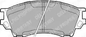 Delphi LP1063 - Piduriklotsi komplekt,ketaspidur multiparts.ee