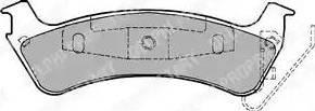 Delphi LP1183 - Piduriklotsi komplekt,ketaspidur multiparts.ee