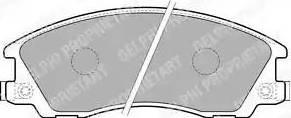 Delphi LP1853 - Piduriklotsi komplekt,ketaspidur multiparts.ee