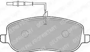 Delphi LP1792 - Piduriklotsi komplekt,ketaspidur multiparts.ee