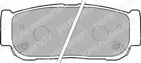 Delphi LP1797 - Piduriklotsi komplekt,ketaspidur multiparts.ee