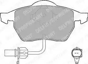 Delphi LP1706 - Piduriklotsi komplekt,ketaspidur multiparts.ee