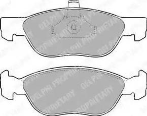Delphi LP1734 - Piduriklotsi komplekt,ketaspidur multiparts.ee