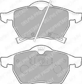 Delphi LP1731 - Piduriklotsi komplekt,ketaspidur multiparts.ee