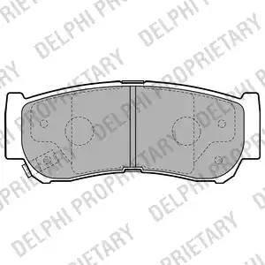 Delphi LP2049 - Piduriklotsi komplekt,ketaspidur multiparts.ee