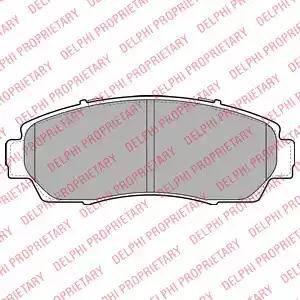 Delphi LP2046 - Piduriklotsi komplekt,ketaspidur multiparts.ee