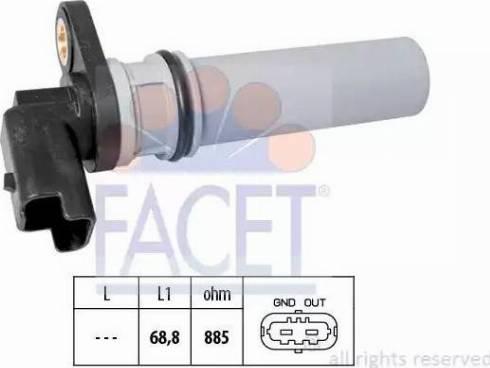 FACET 9.0537 - Pööreteandur, automaatk.kast multiparts.ee