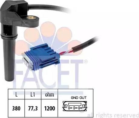 FACET 9.0618 - Pööreteandur, automaatk.kast multiparts.ee