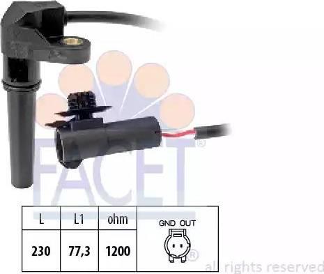 FACET 9.0617 - Pööreteandur, automaatk.kast multiparts.ee