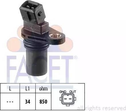 FACET 9.0354 - Pööreteandur, automaatk.kast multiparts.ee
