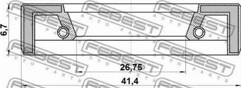Febest 95FAY-28410707X - Remondikomplekt,Rooliajam multiparts.ee