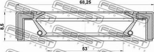 Febest 95GAY-55680808L - Võlli rõngastihend, jaotuskast multiparts.ee