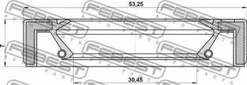 Febest 95GAY-32530707R - Võlli rõngastihend, manuaalk.kasti peavõll multiparts.ee