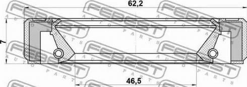 Febest 95GBY-48620707R - Võlli rõngastihend,diferentsiaal multiparts.ee