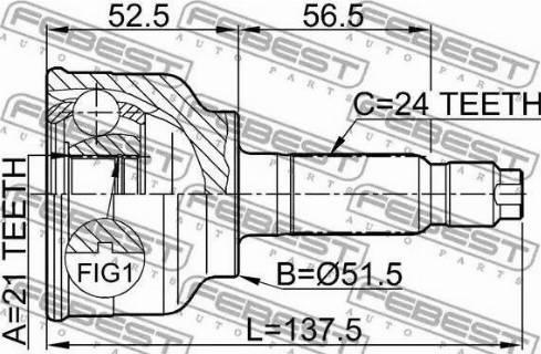 Febest 0510-004 - Liigendlaager, veovõll multiparts.ee