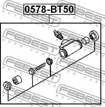Febest 0578-BT50 - Rattapidurisilinder multiparts.ee