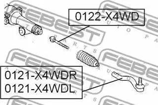 Febest 0122-X4WD - Sisemine rooliots,roolivarras multiparts.ee