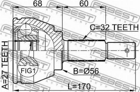 Febest 0210-A35 - Liigendlaager, veovõll multiparts.ee