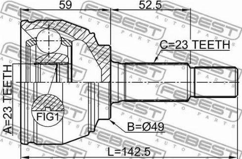 Febest 0210-E11E - Liigendlaager, veovõll multiparts.ee