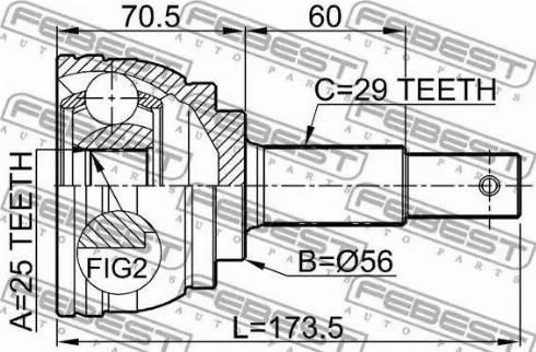 Febest 0210-J31 - Liigendlaager, veovõll multiparts.ee