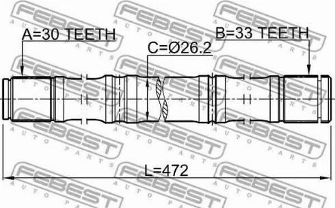 Febest 0212-HR16D - Veovõll multiparts.ee