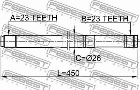 Febest 0212-QG16LH - Veovõll multiparts.ee