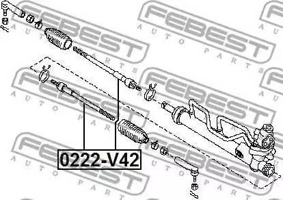 Febest 0222-V42 - Sisemine rooliots,roolivarras multiparts.ee