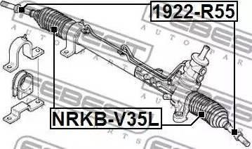 Febest 1922-R50 - Sisemine rooliots,roolivarras multiparts.ee