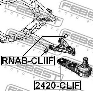 Febest 2420-CLIF - Kande-/juhtliigend multiparts.ee