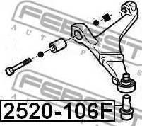 Febest 2520-106F - Kande-/juhtliigend multiparts.ee